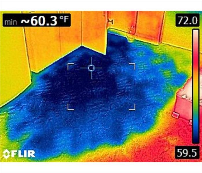 Infrared Camera in Commercial Flood After
