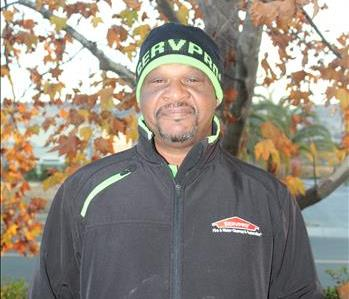 male employee with a beanie
